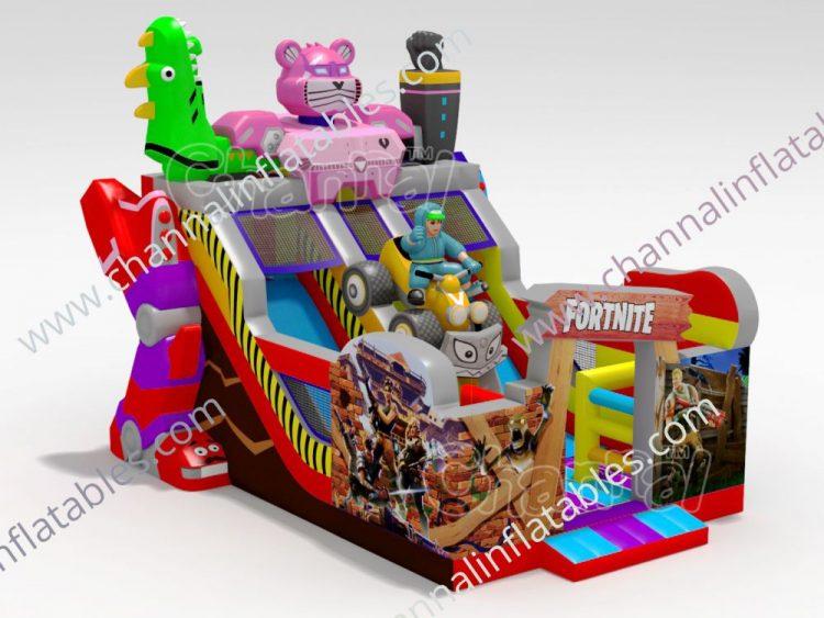 fortnite inflatable slide