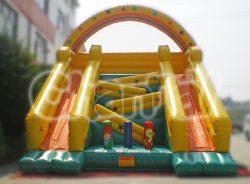 rainbow crossover inflatable slide