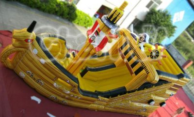 pirate king inflatable slide