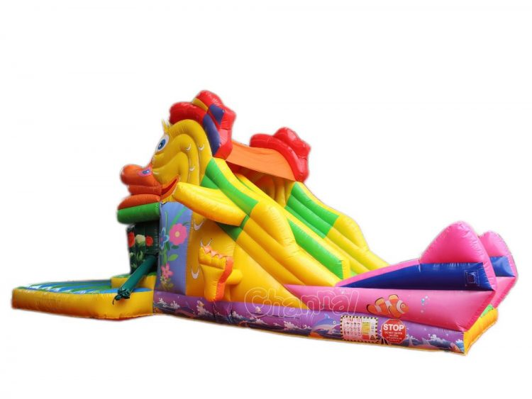 Duck inflatable snappy slide channal inflatables for Duck slide plans