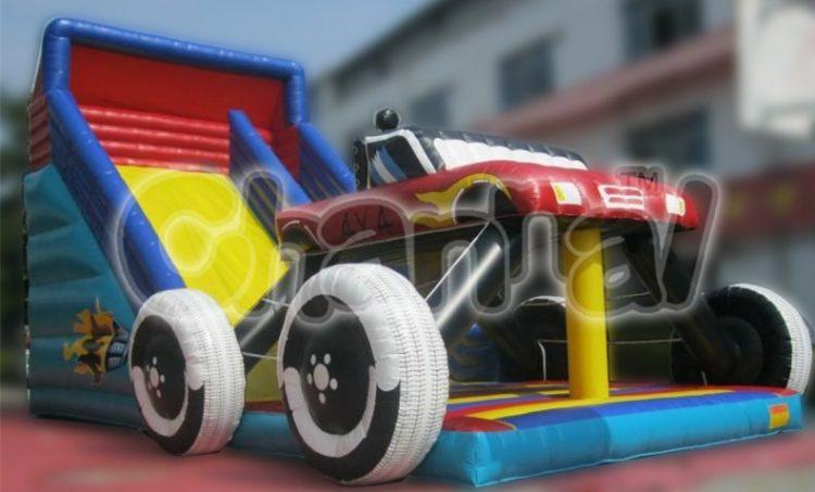 monster car inflatable slide