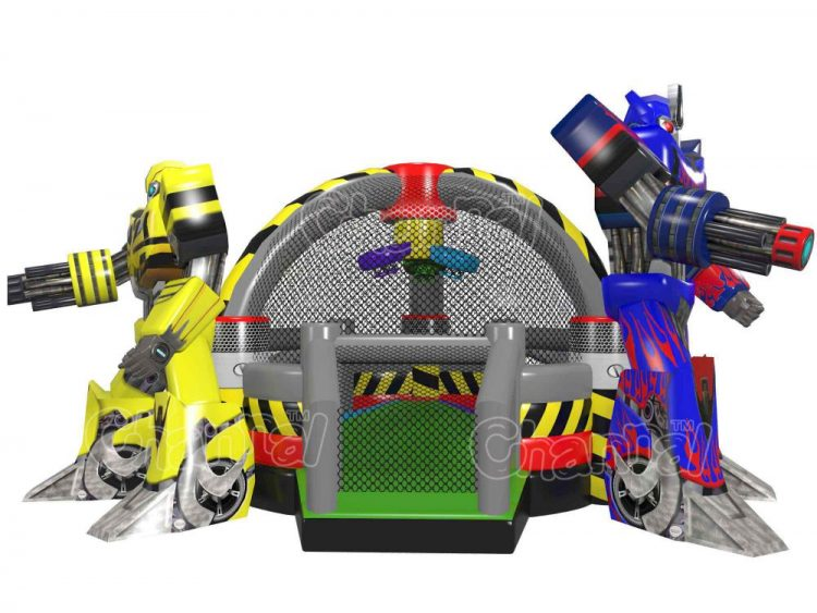 transformers themed inflatable sports arena