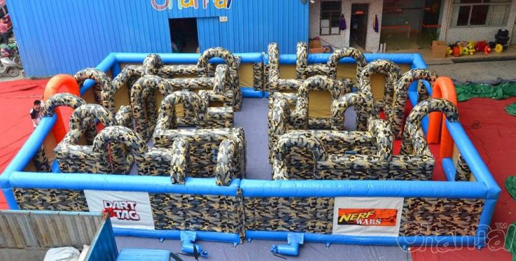 Nerf War Inflatable Maze on Water Feature Design Ideas