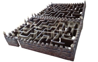 black large inflatable maze