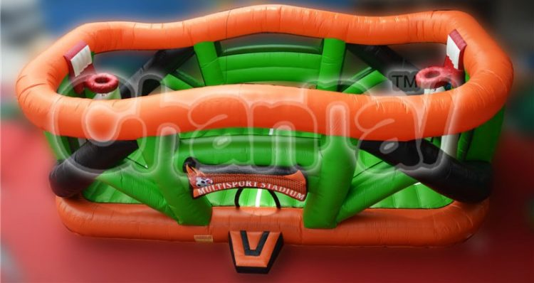 basketball court inflatable interactive game