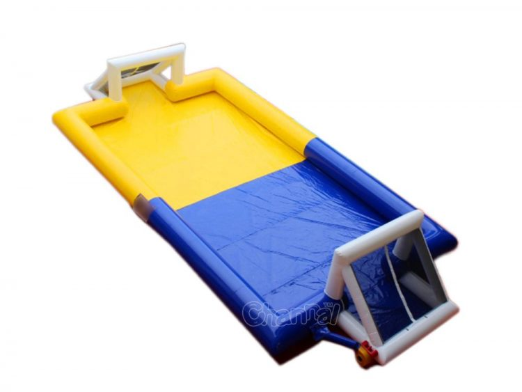 cheap blow up water football pitch