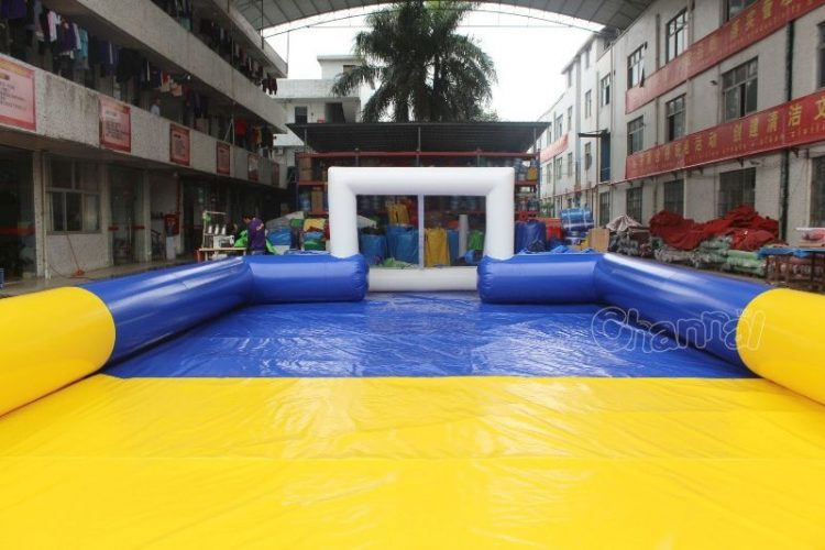 inflatable soccer field goal
