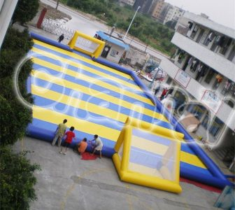 large inflatable soap soccer field