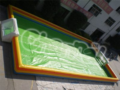 green inflatable soccer field for sale