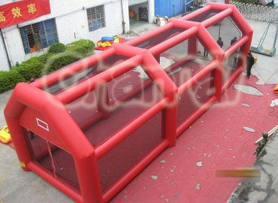 red inflatable batting cage for sale