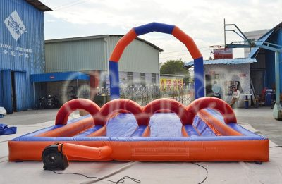 inflatable water race field