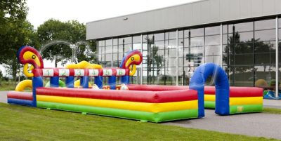 inflatable derby horse race track