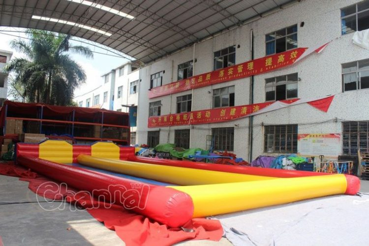 inflatable bowling lane