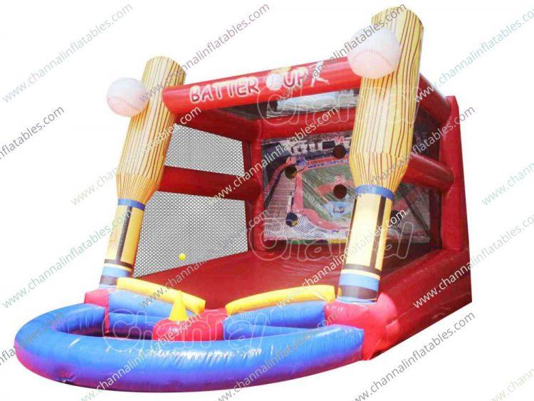inflatable baseball tee ball game