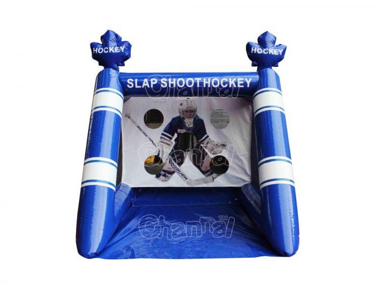 inflatable slap shot hockey game