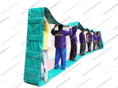 inflatable hamster track team building game