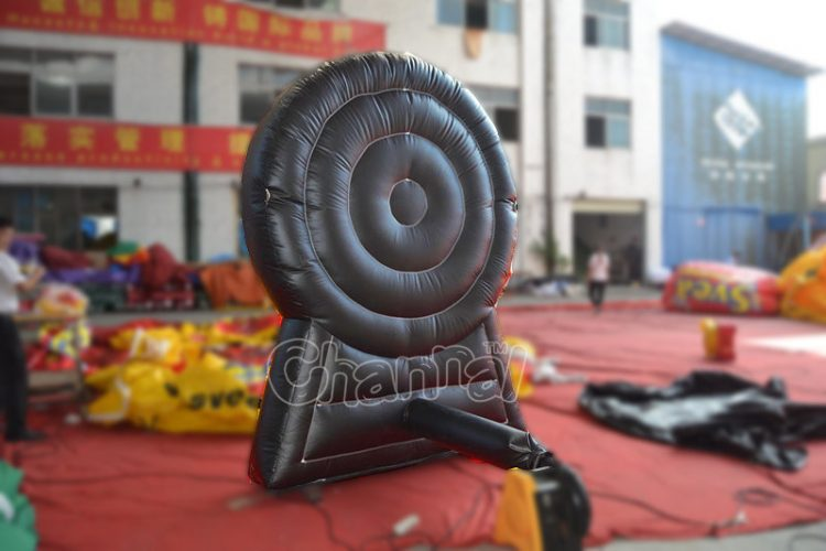 back side of inflatable dart game