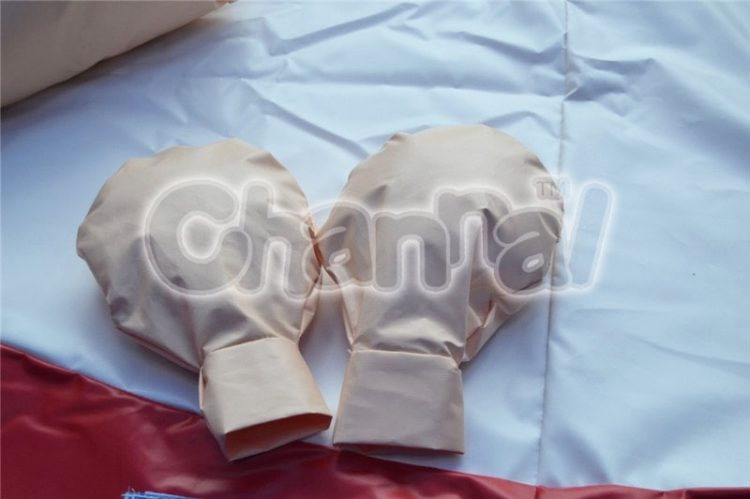 a pair of padded sumo gloves