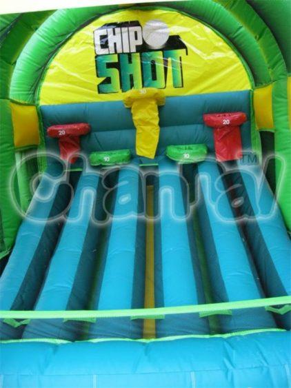 inflatable golf holes (basketball hoops)