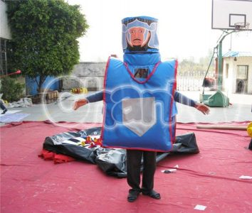 inflatable joust game suit