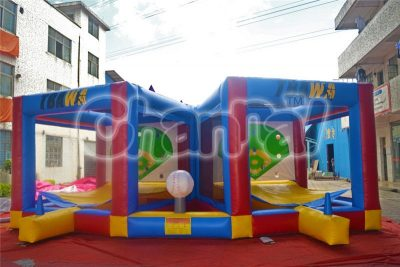 inflatable batter up baseball game