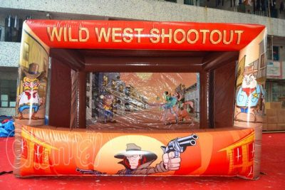 inflatable wild west shootout game