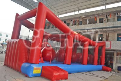 inflatable wipeout big ball game