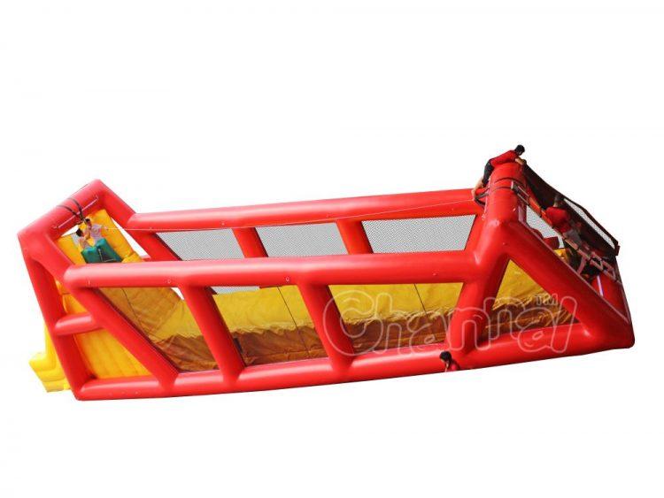 large inflatable zipline game