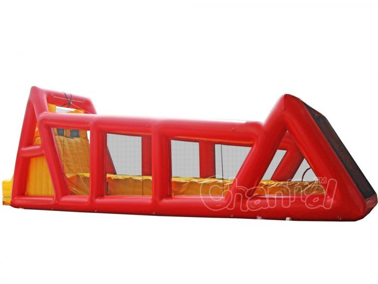 red zip line inflatable for sale