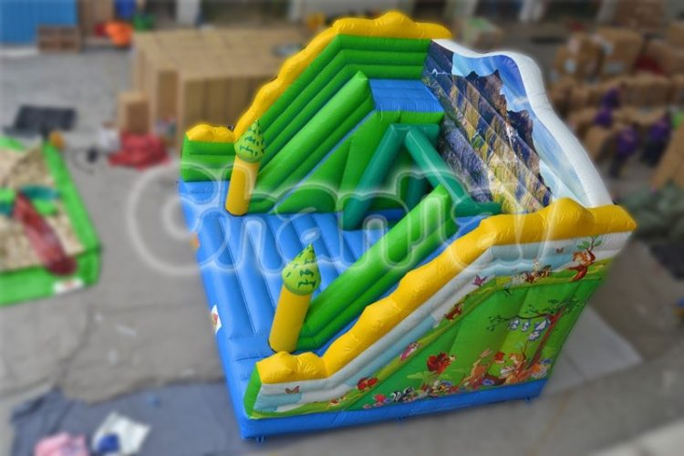 inflatable single-log bridge game