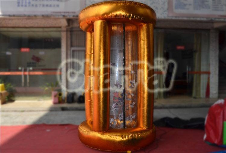 golden inflatable money catching game machine