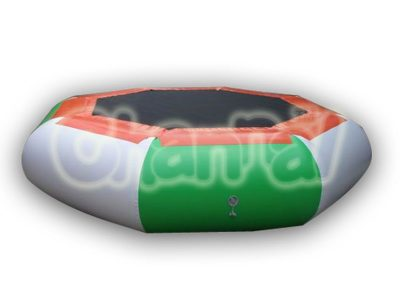 octagon inflatable water floating trampoline