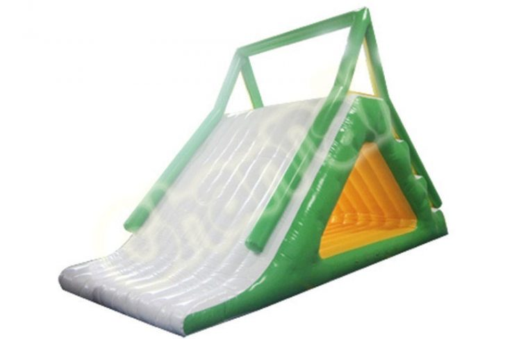 inflatable floating slide for pool and lake