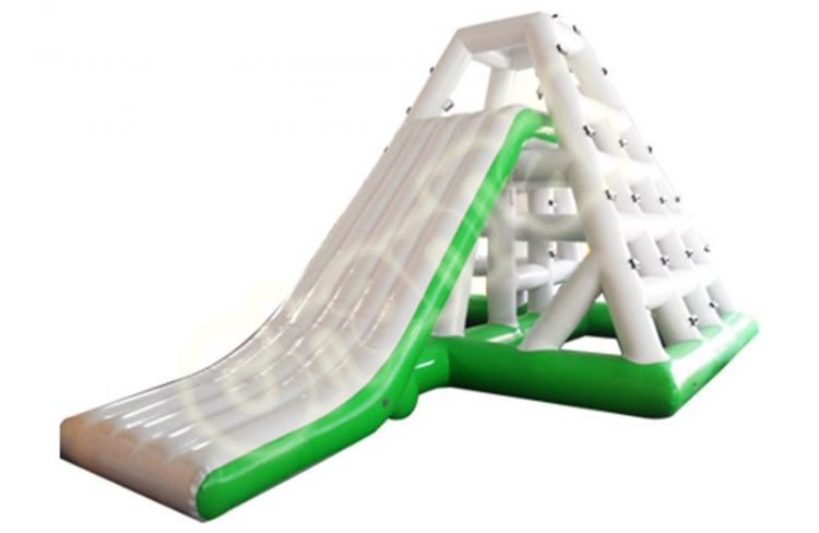 inflatable slide and climb on water