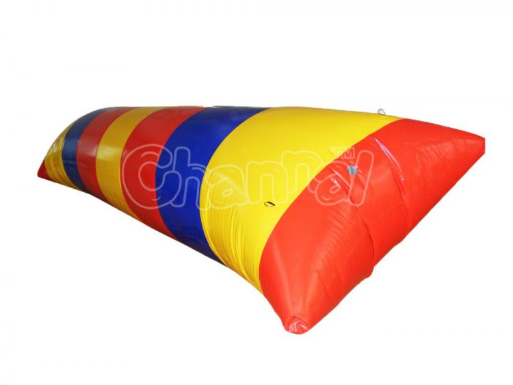 inflatable water blob human catapult for lake