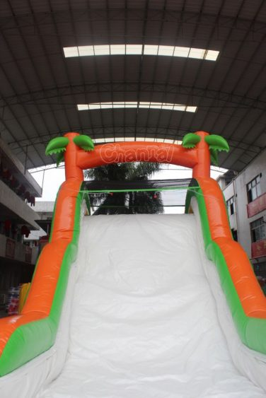 top of small water slide