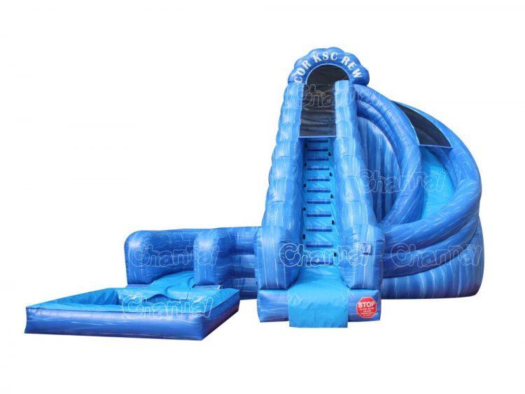 corkscrew inflatable water slide