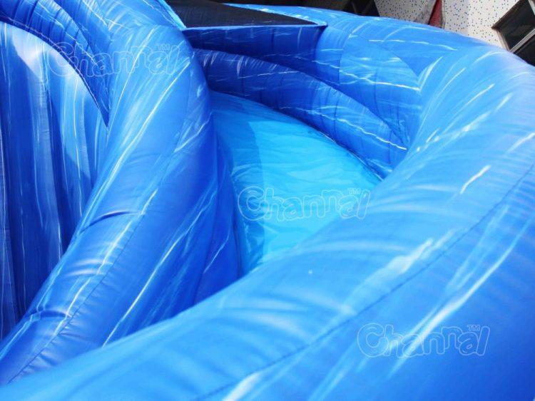 slide lane of inflatable corkscrew water slide