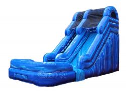 14' inflatable wet dry slide