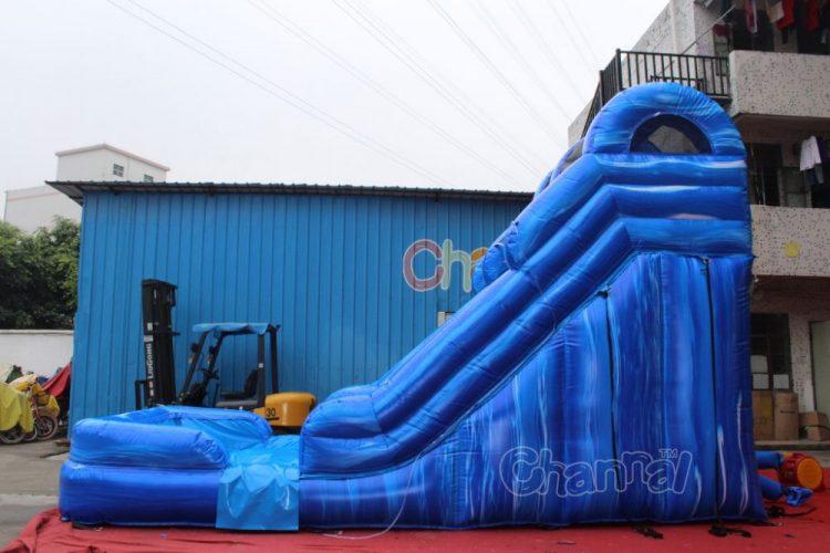 wet dry slide inflatable