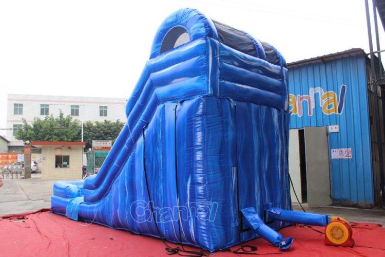 commercial inflatable wet dry slide backside