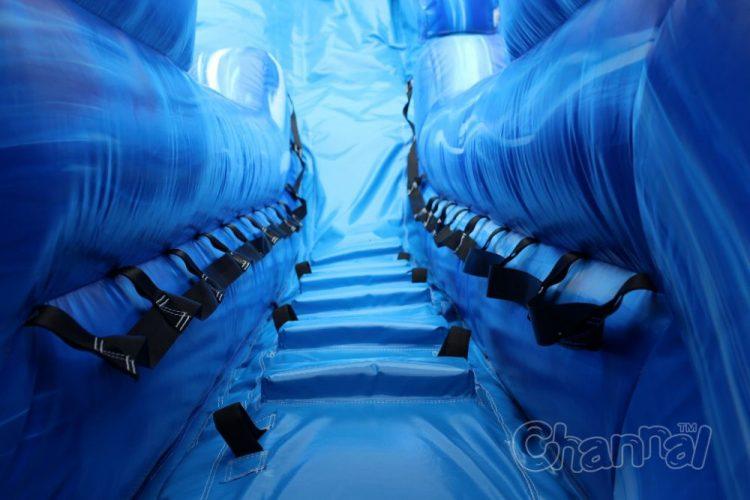 wet dry slide climb steps