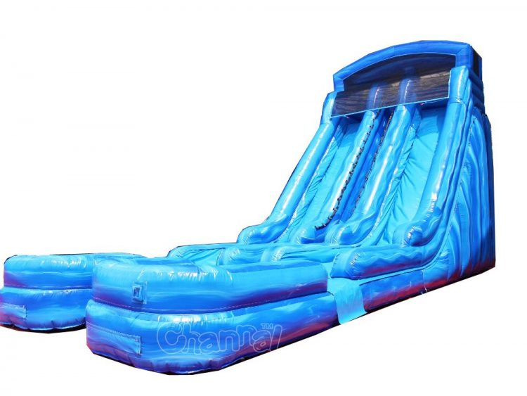 dual lane inflatable water slide