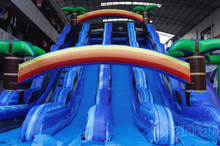3 lane water slide for kids
