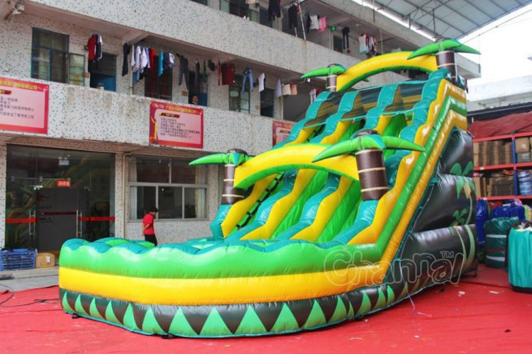 commercial large dual tropical water slide