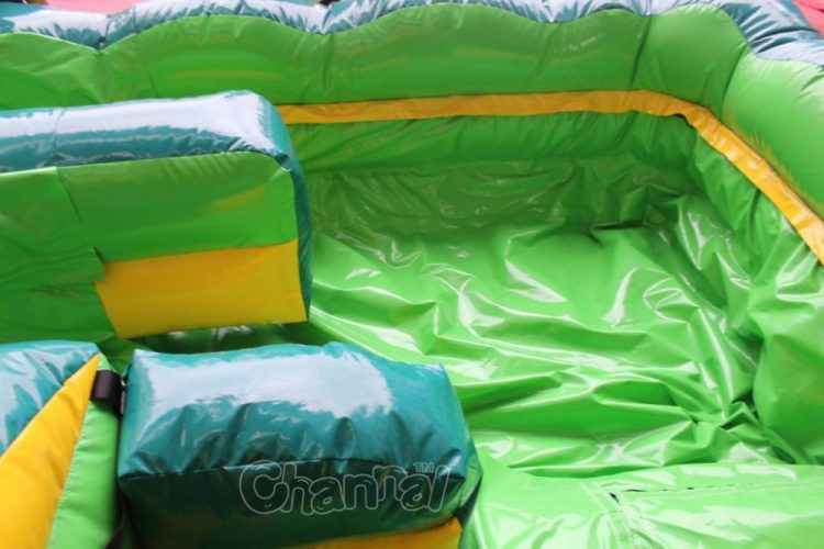 tropical dual lane water slide tarp