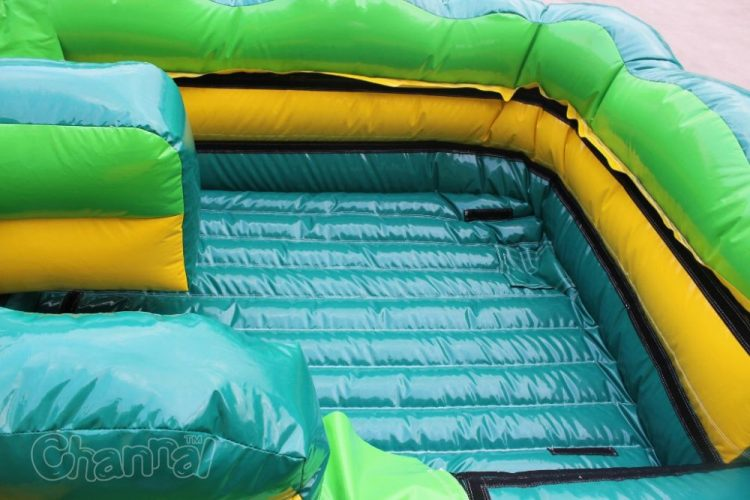 tropical dual lane water slide without tarp