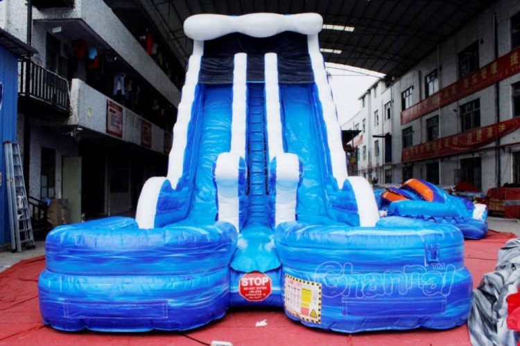 double sided water slide for kids