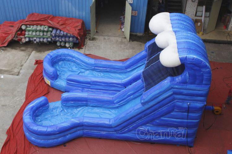 ocean wave dual lane water slide