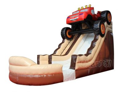 monster truck inflatable water slide